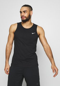 Nike Performance - DRY TANK SOLID - Funktionströja - black /white