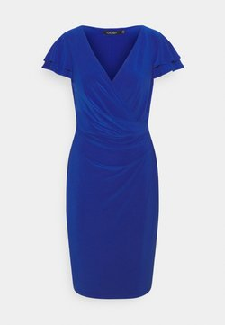 Lauren Ralph Lauren - PICA SHORT SLEEVE DAY DRESS - Vestito di maglina - sapphire star