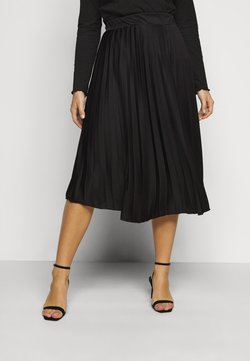 Dorothy Perkins Curve - CURVE PLEAT MIDI SKIRT - A-Linien-Rock - black