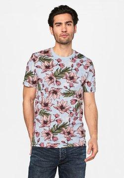 WE Fashion - WE FASHION HERREN-T-SHIRT MIT BLUMENMUSTER - T-shirt print - pink