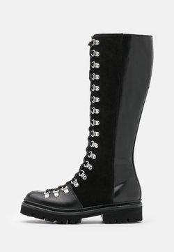 Grenson - NANETTE HI - Kozaki sznurowane - black colorado/black