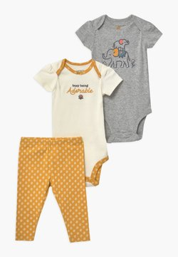 Carter's - ELEPHANT 2 PACK SET - Body - yellow/white