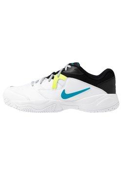 Nike Performance - COURT LITE 2 - Scarpe da tennis per tutte le superfici - white/neon turquoise/hot lime/light smoke grey