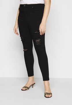 Simply Be - HIGH WAIST - Jeans Skinny Fit - black
