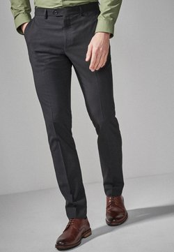 Next - STRETCH TONIC SUIT: TROUSERS-SLIM FIT - Pantaloni eleganti - black