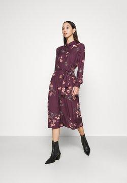 Vero Moda - VMLALLIE CALF DRESS  - Skjortekjole - plum perfect/lallie