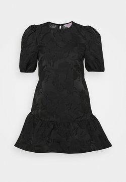 Miss Selfridge Petite - DAISY TIERRED MINI DRESS - Korte jurk - black