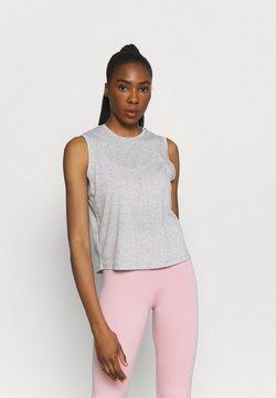 Nike Performance - CROCHET TANK - Funktionsshirt - grey heather/white/platinum tint