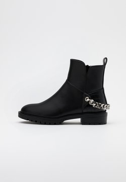 ONLY SHOES - ONLTINA CHAIN BOOT  - Cowboy- / bikerstøvlette - black