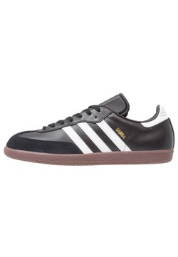 adidas Performance - SAMBA LEATHER FOOTBALL SHOES INDOOR - Sneaker low - black/run white