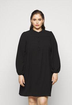 Vero Moda Curve - VMSAGA PLEAT SHORT DRESS  - Freizeitkleid - black