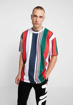 Urban Classics - HEAVY OVERSIZED BIG STRIPE TEE - T-Shirt print - white/navy