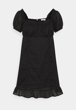 Cotton On Petite - SHORT SLEEVE CORSET MINI DRESS - Vestido informal - black