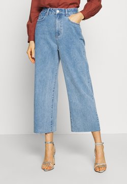 Cotton On - HIGH RISE WIDE LEG - Flared Jeans - stonewash blue