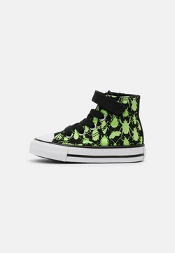 Converse - CHUCK TAYLOR ALL STAR GLOW BUG HI UNISEX - Korkeavartiset tennarit - black/ceramic green/white
