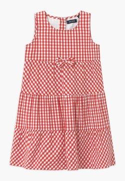 Blue Seven - SMALL GIRLS TIERD CHECK - Sukienka koszulowa - hochrot