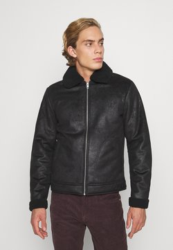 Jack & Jones - JJFLIGHT JACKET - Kunstlederjacke - black