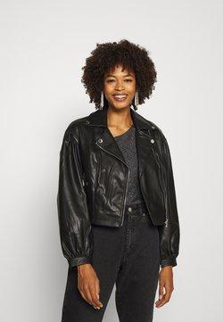 Guess - DARYL JACKET - Faux leather jacket - jet black