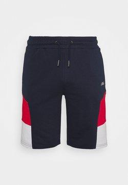 Fila - JUDA BLOCKED SHORTS - Pantalón corto de deporte - black iris/true red/bright white