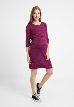 Esprit Maternity - DRESS NURSING - Gebreide jurk - plum red