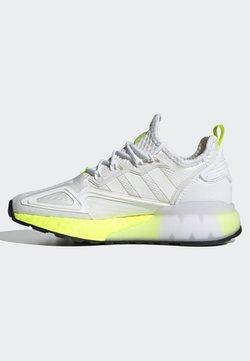 adidas Originals - ZX 2K BOOST J - Sneakersy niskie - white