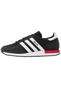 adidas Originals - USA 84 - Sneaker low - core black/footwear white/scarlet