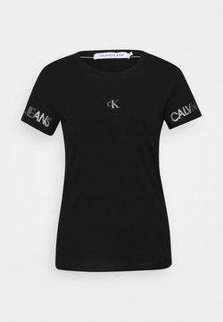Calvin Klein Jeans - OUTLINE LOGO TEE - Print T-shirt - black