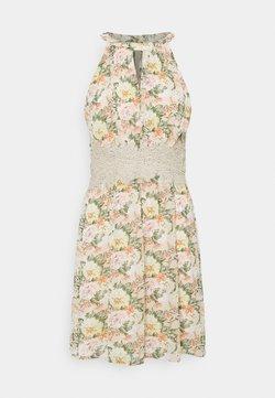Vila - VIMILINA FLOWER DRESS - Juhlamekko - sandshell