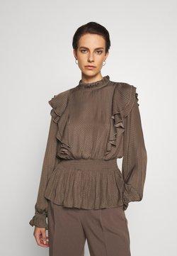 Bruuns Bazaar - PRICKLY SUZETTE BLOUSE - Bluse - major brown
