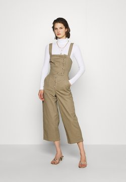 Who What Wear - THE CROSS BACK DUNGAREE - Salopette - light tobacco