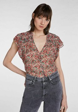 SET - Bluse - white red