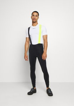 Gore Wear - C5 THERMO TRÄGERHOSE - Tights - black/neon yellow