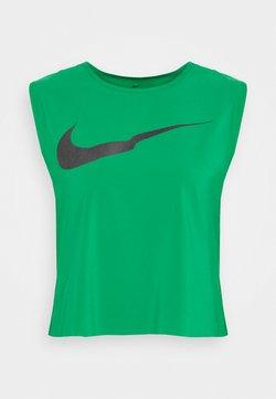 Nike Performance - RUN TANK PLEATED - Camiseta de deporte - lucky green/black