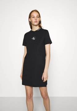 Calvin Klein Jeans - CENTER MONOGRAM DRESS - Vestido ligero - black