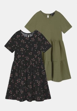 New Look 915 Generation - SIAN AND SOLID 2 PACK - Jerseykleid - black/khaki