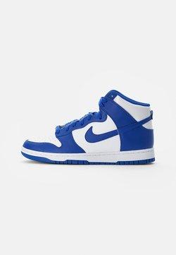 Nike Sportswear - DUNK RETRO - Sneakersy wysokie - white/ royal-total orange