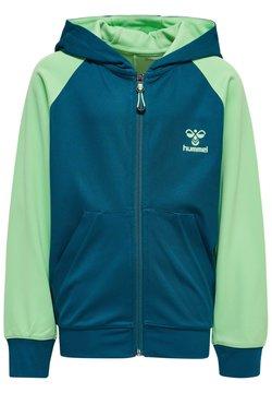 Hummel - ACTION - veste en sweat zippée - blue coral green ash