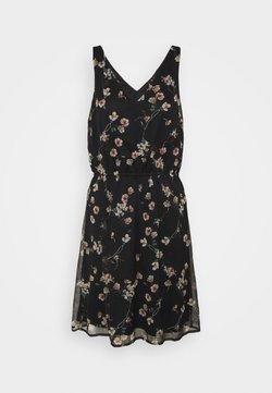 Vero Moda Tall - VMWONDA NEW SINGLET SHORT DRESS - Freizeitkleid - black