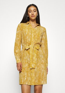 Vero Moda - VMVIBE DRESS - Skjortekjole - buckthorn brown/birch dots