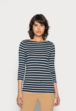 Tommy Hilfiger - HERITAGE BOAT NECK TEE 3/4 - Langarmshirt - midnight/classic white