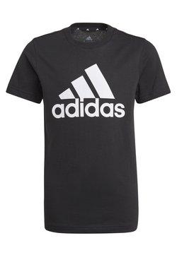 adidas Performance - UNISEX - T-shirt print - black/white