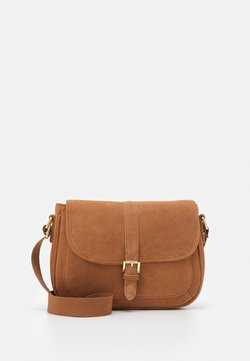 Anna Field - LEATHER - Torba na ramię - cognac