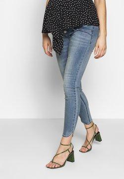 MAMALICIOUS - MLLAVAL SPLIT - Slim fit jeans - light blue denim