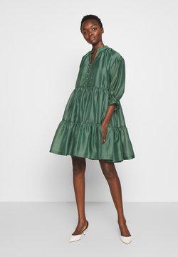 DESIGNERS REMIX - ENOLA RUFFLE DRESS - Sukienka koktajlowa - dusty green