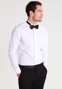 Seidensticker - SLIM FIT GERORGE SMOKING HEMD - Camisa elegante - white