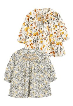 Next - 2 PACK SMOCK FLORAL TUNIC - Túnica - off-white