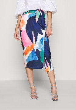 Never Fully Dressed - ARTIST PRINT JASPRE SKIRT - Kokerrok - blue/multi