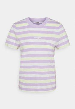 Wrangler - HIGH REGULAR TEE - T-Shirt print - pastel violet