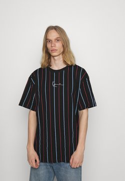 Karl Kani - SMALL SIGNATURE PINSTRIPE TEE - T-Shirt print - black
