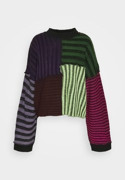 The Ragged Priest - STRIPE PLATED PANELLED JUMPER - Pullover - multi